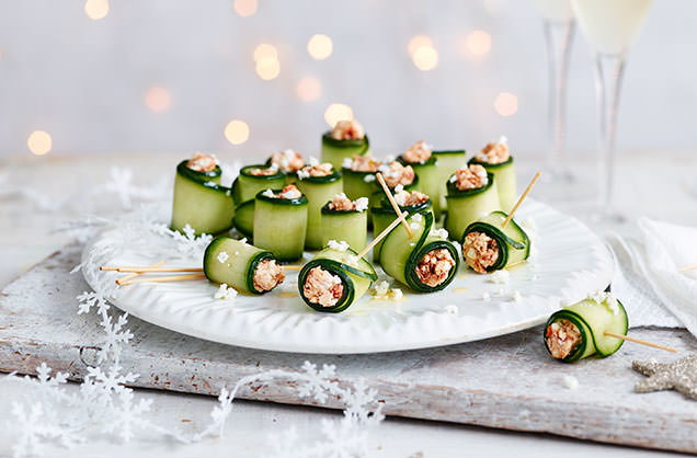 Christmas canap s canap s ideas tesco real food for Christmas canape ideas