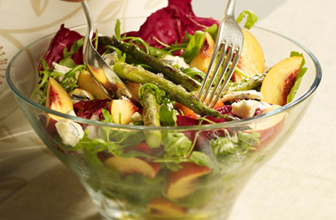 Nectarine cheese salad HERO