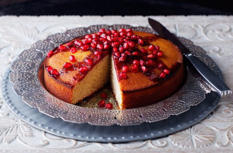 Yoghurt cake with pomegranate HERO