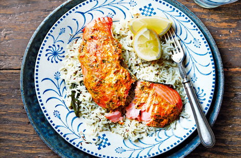 (h)tandoori salmon Tesco Real Food