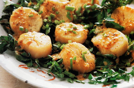 Scallop sauté with miso sauce | Tesco Real Food