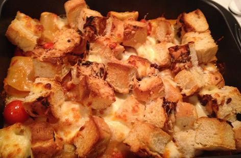 Baked paccheri and Sausage foccacia bake
