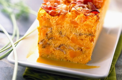 Carrot and bacon terrine