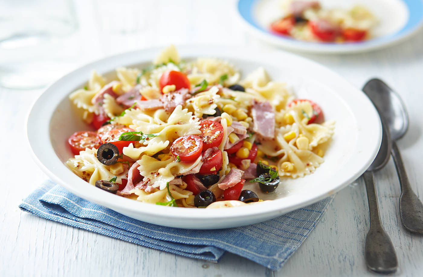 Leftover ham, lemon and mustard pasta salad recipe