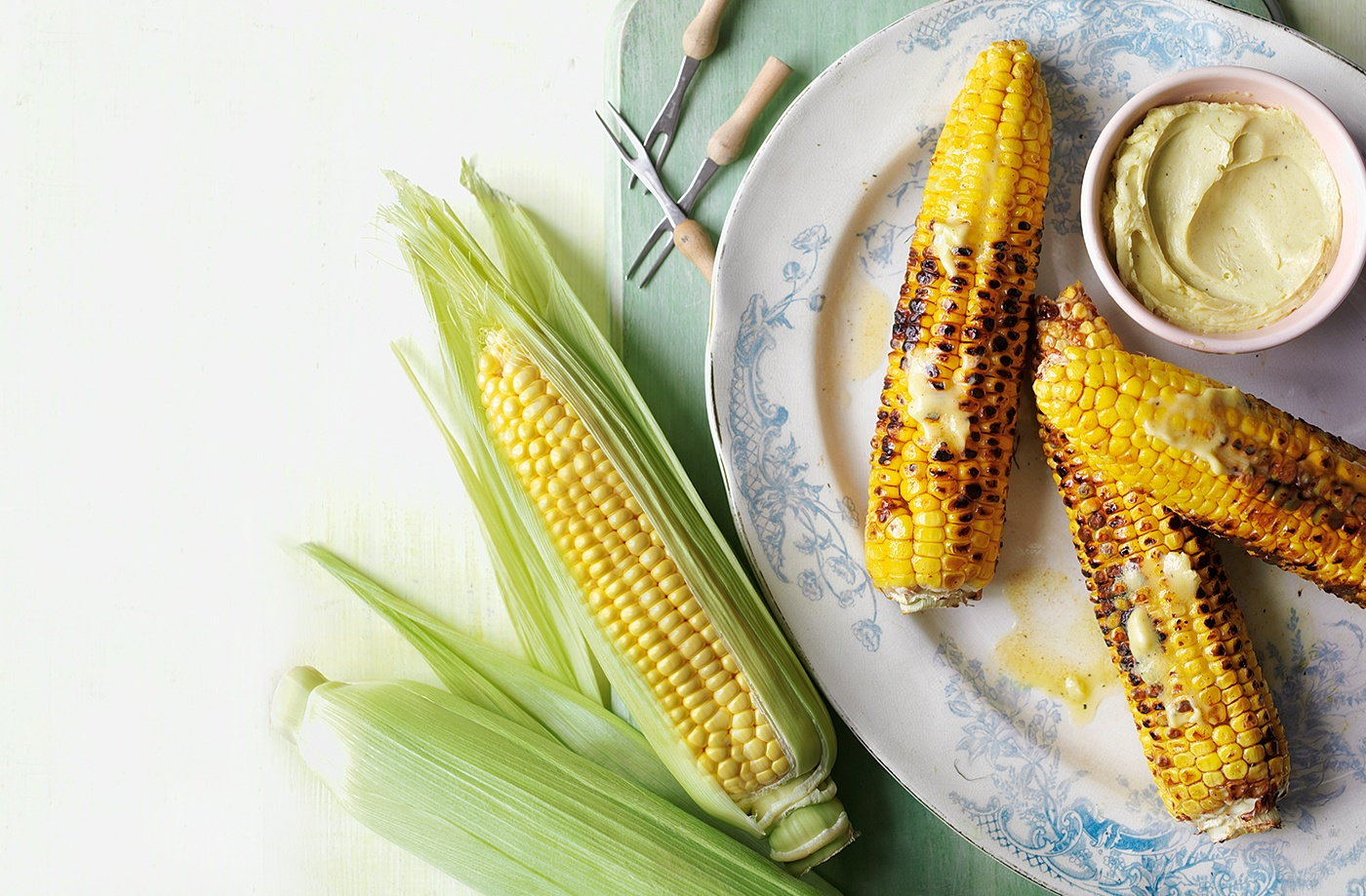 Sweetcorn with wasabi butter recipe
