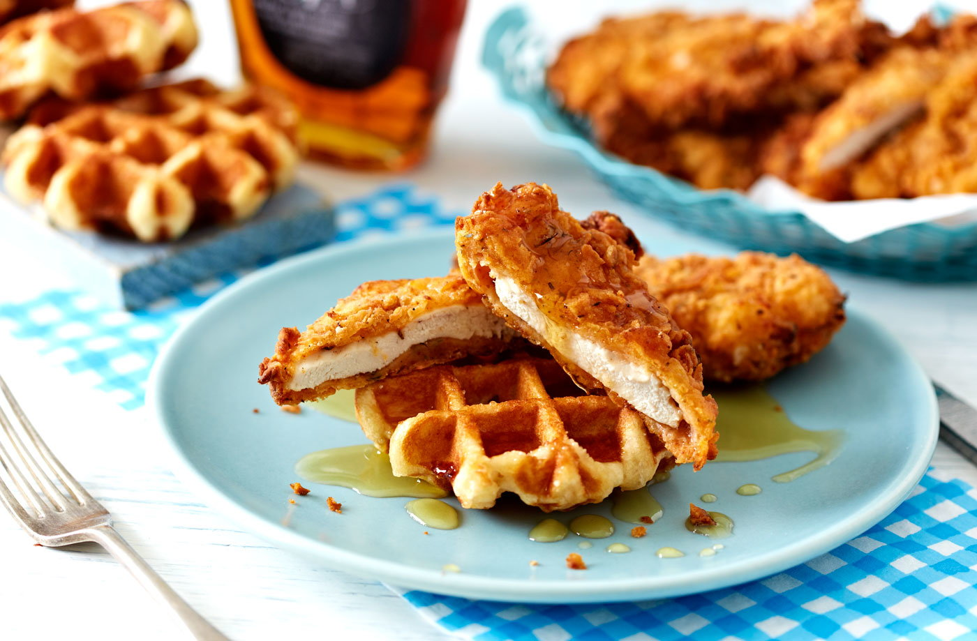 Buttermilk chicken and waffles recipe