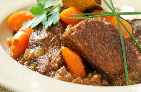 If you thought beef should be paired only with red wine, think again. This rich beef stew cooked in white wine gives has a brilliant depth of flavour and will only improve if made the day before. Serve with a generous hunk of bread and a crisp green salad.