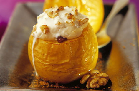 105425 baked apples filled with cheese and walnuts HERO