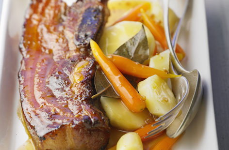 pork breast with honey and vegetables tesco real food