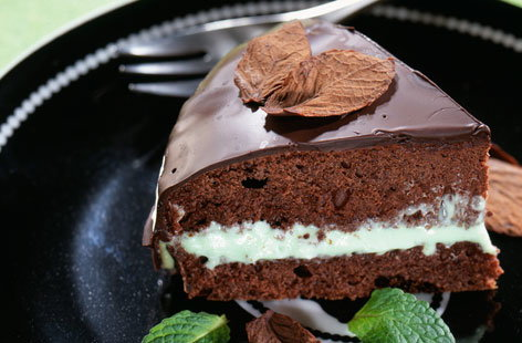 112528 dark chocolate and mint gateau HERO