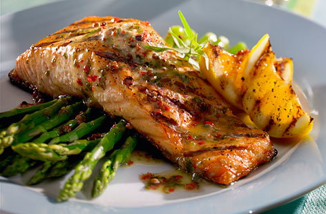 112792 Pave Grilled Salmon Asparagus HERO