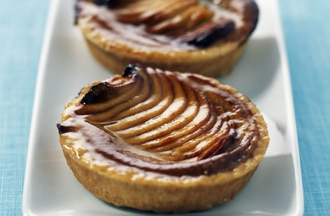 Apple and almond paste tartlets