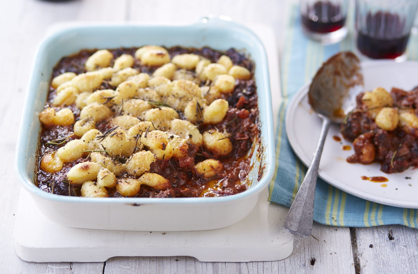 Beef ragu with baked gnocchi recipe