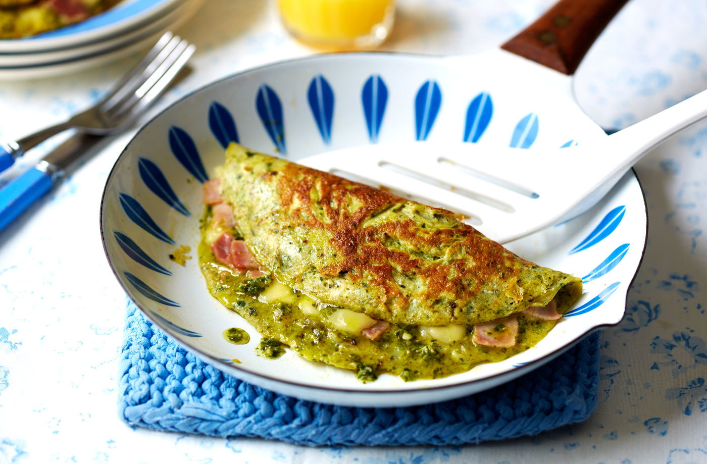 Green eggs and ham omelettes