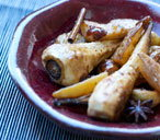 Spicy pan-fried parsnips