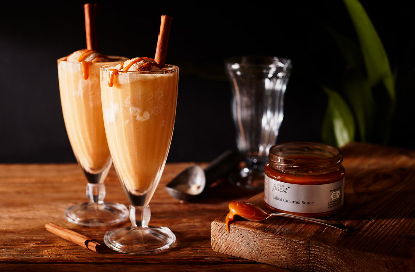 Caramel cider floats recipe