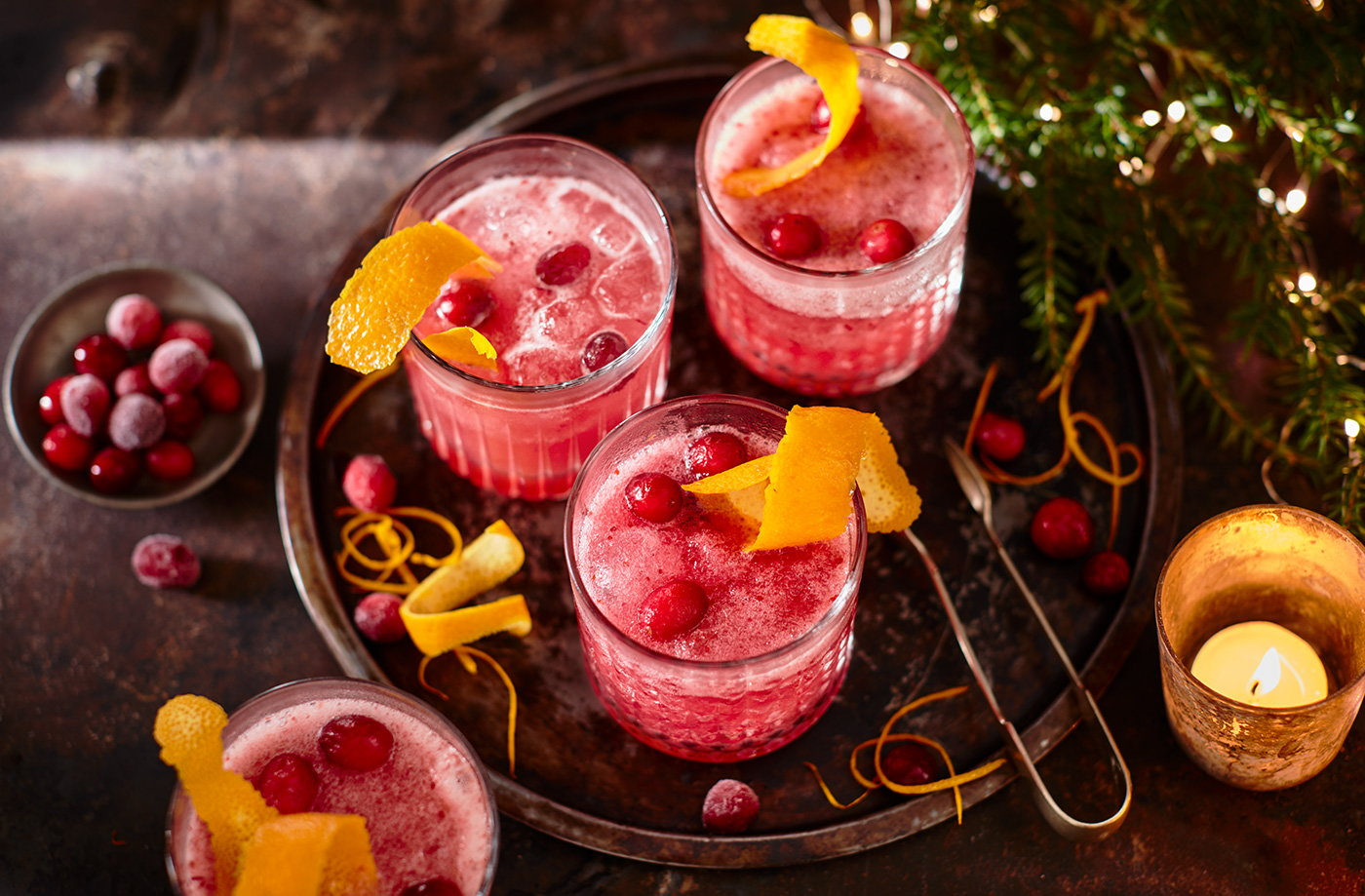 Frosted cranberry slushies recipe
