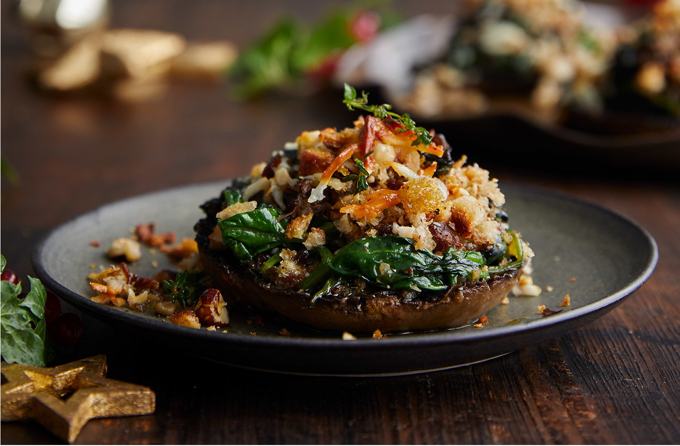 Giant stuffed mushrooms