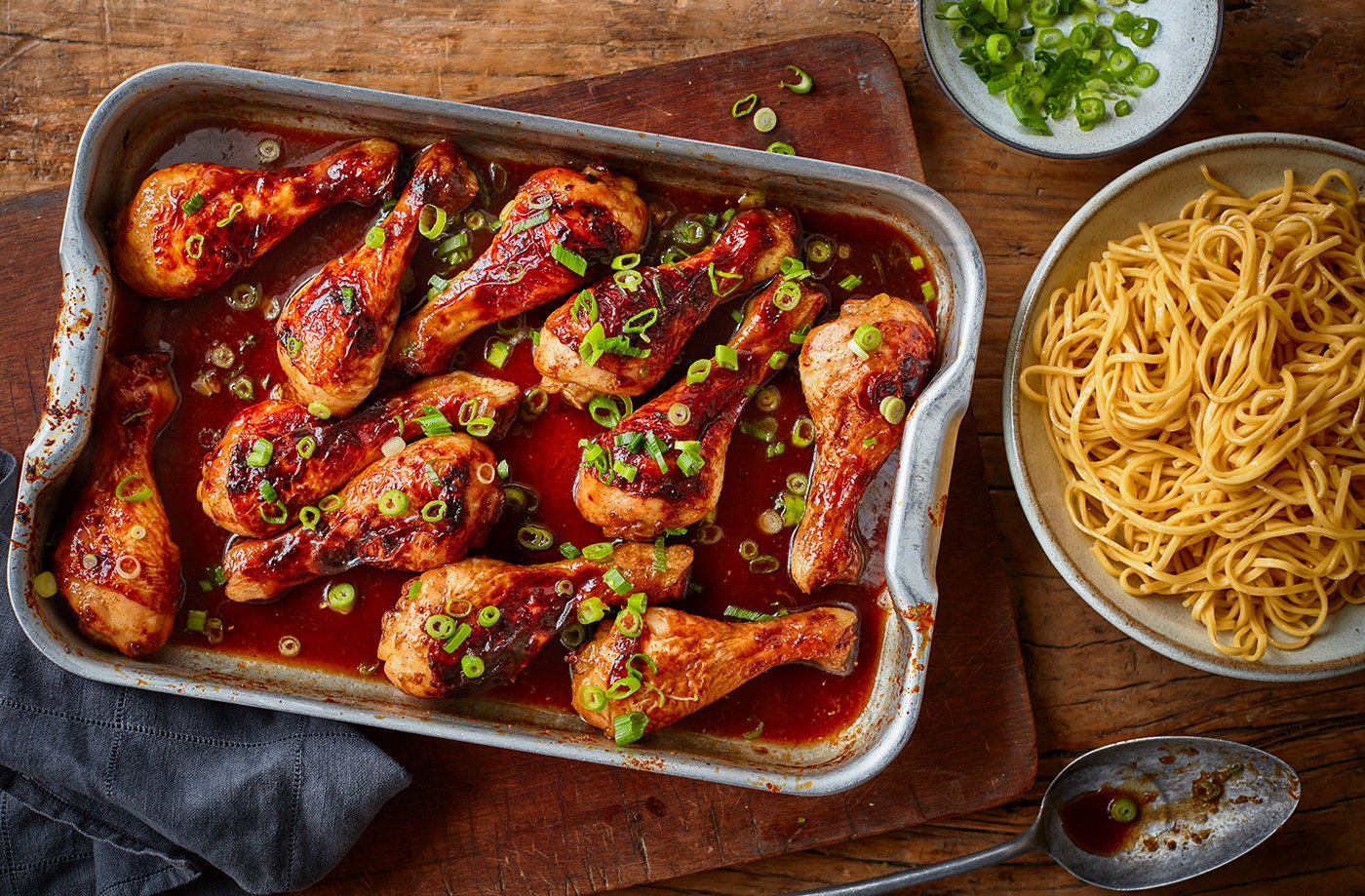 Chinese chicken drumstick traybake recipe