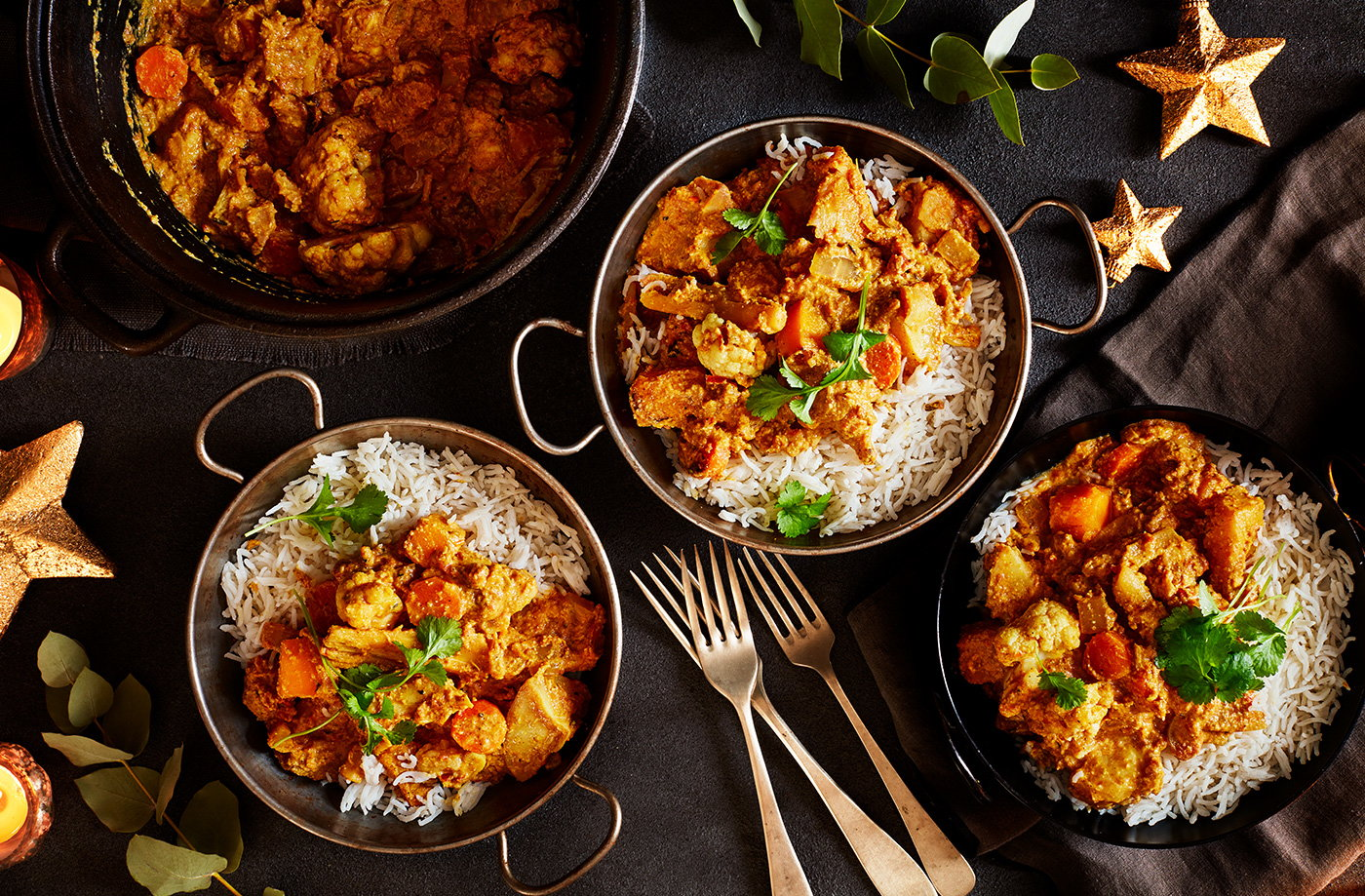 Christmas leftover veg korma recipe