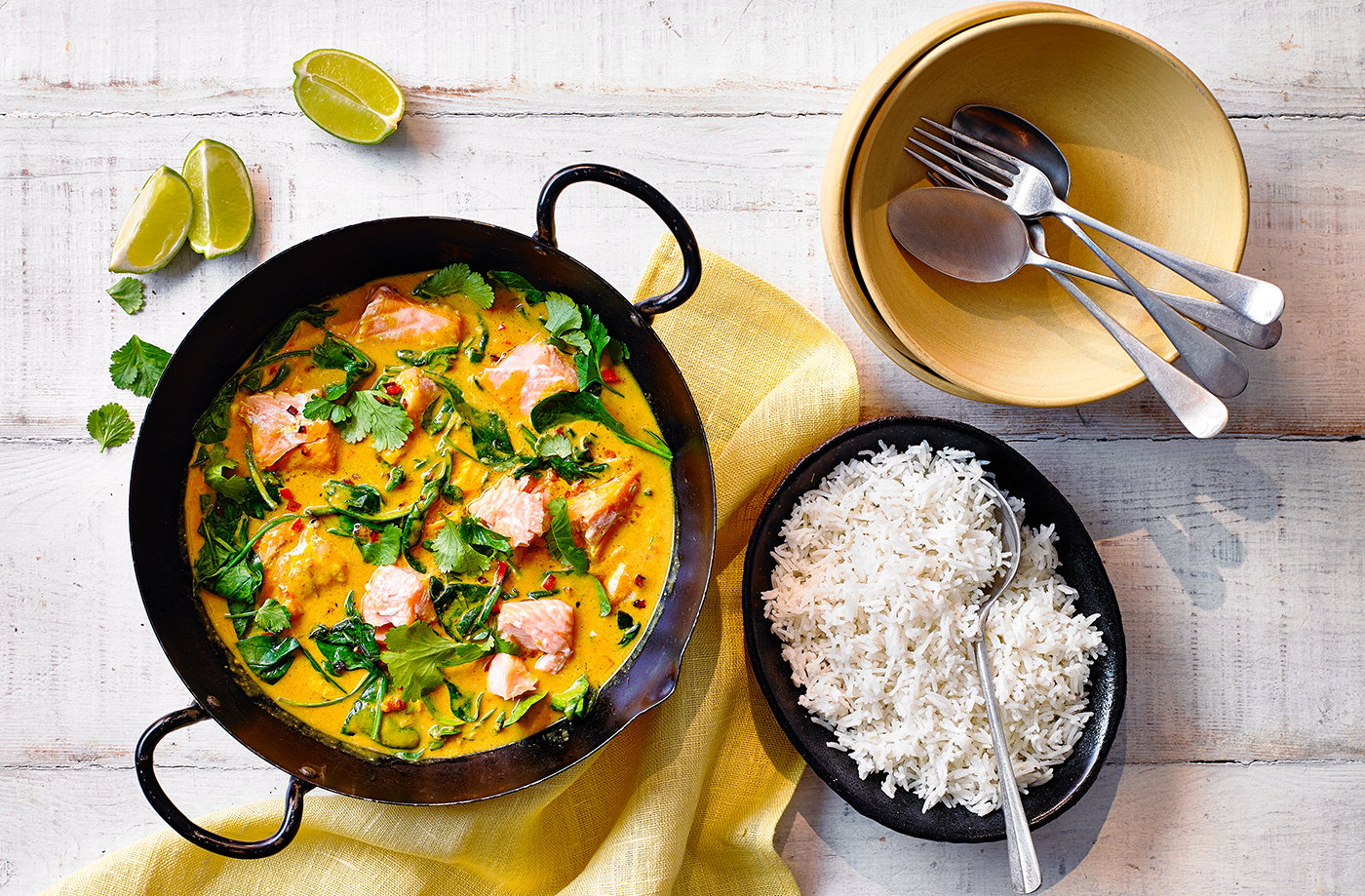 Coconut and spinach salmon curry recipe