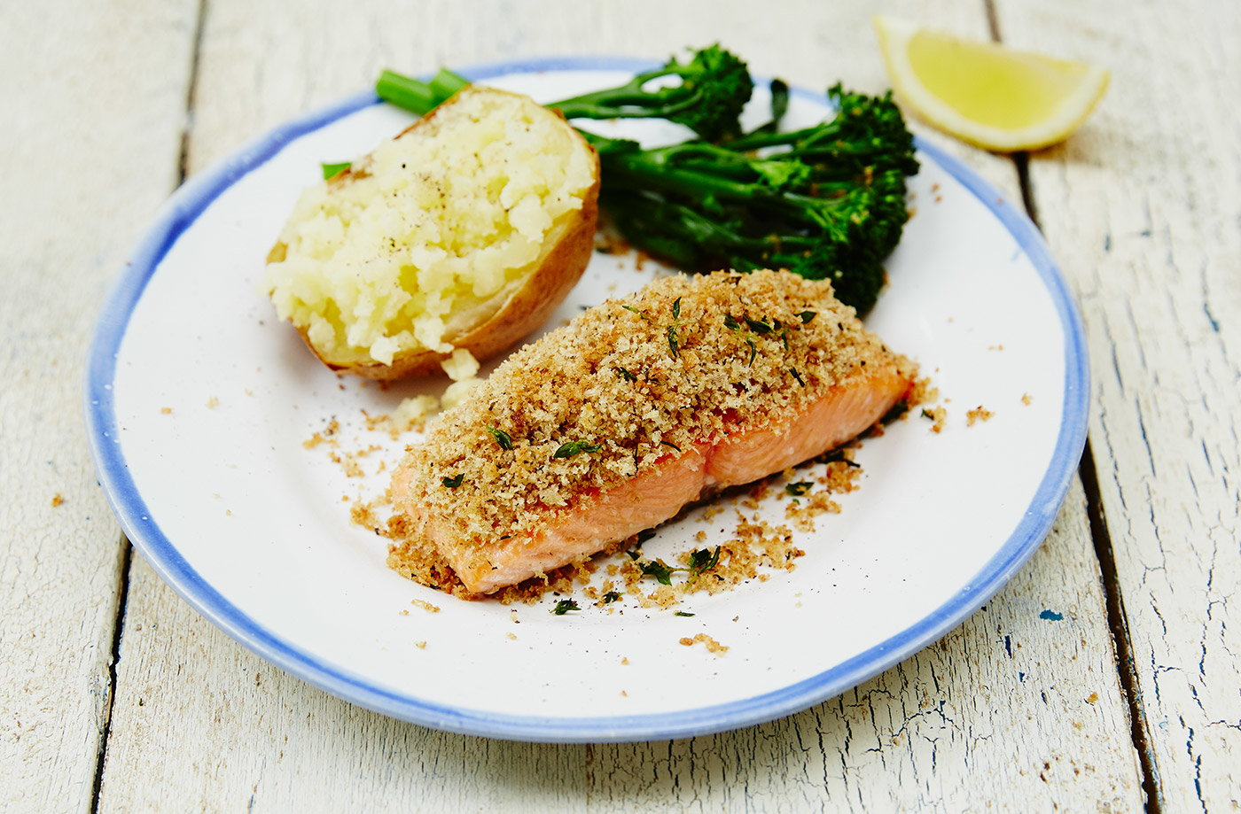 Easy herb-crusted fish recipe