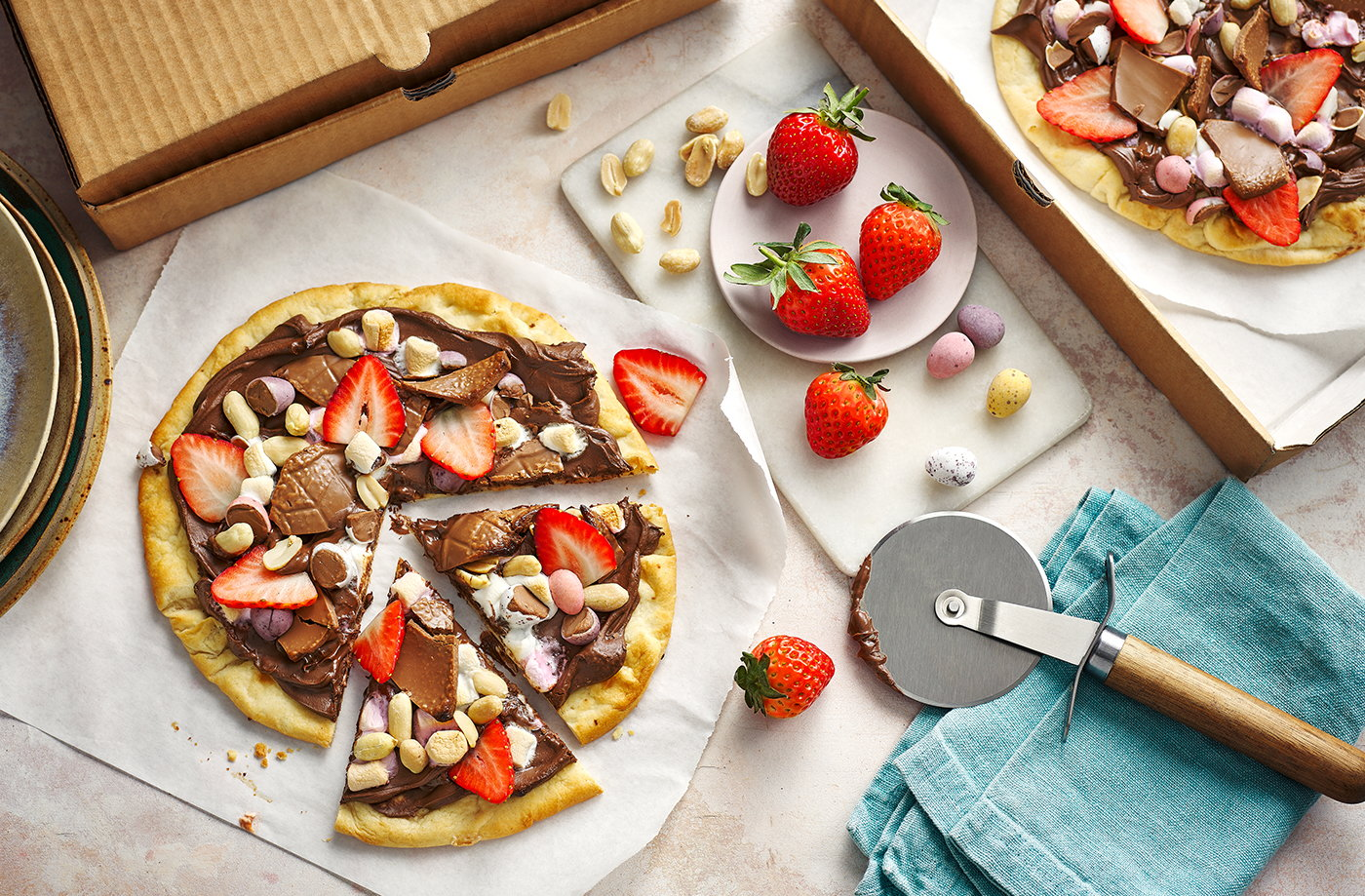 Easter chocolate pizza recipe