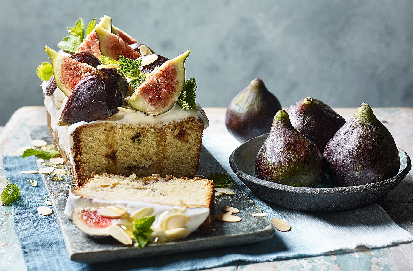 Fig and almond loaf cake recipe