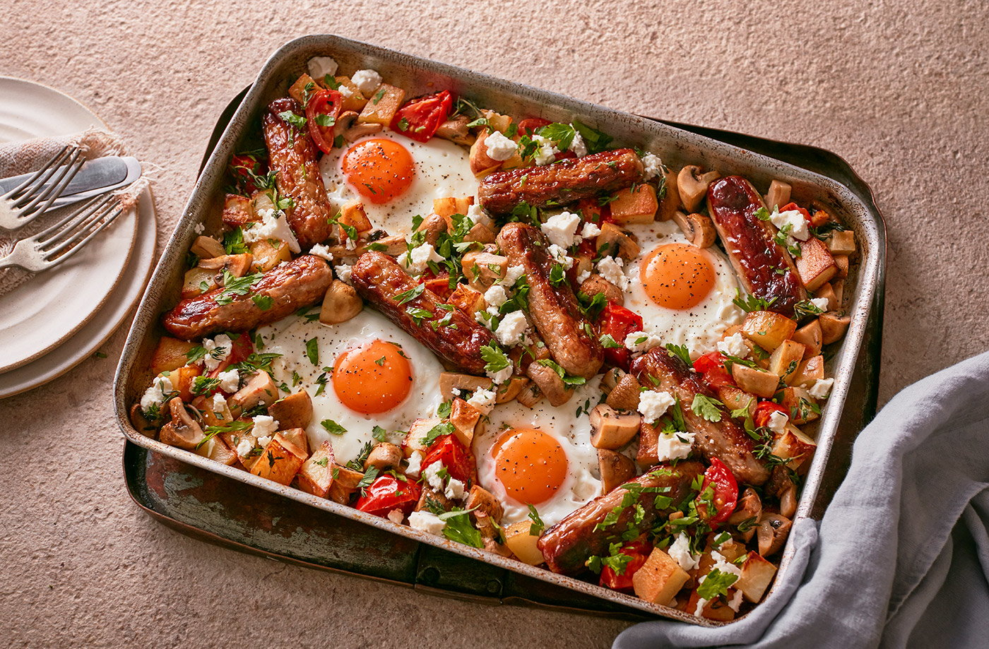 Full English traybake recipe