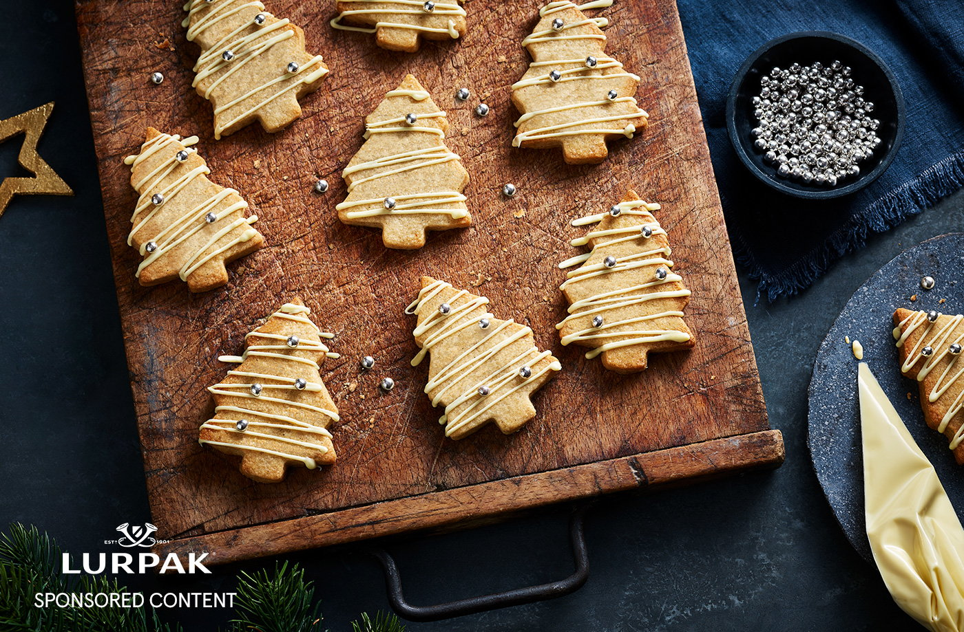 Spiced Christmas tree butter shortbread recipe