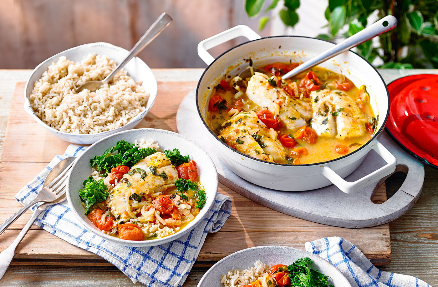 Mediterranean tomato fish stew  recipe