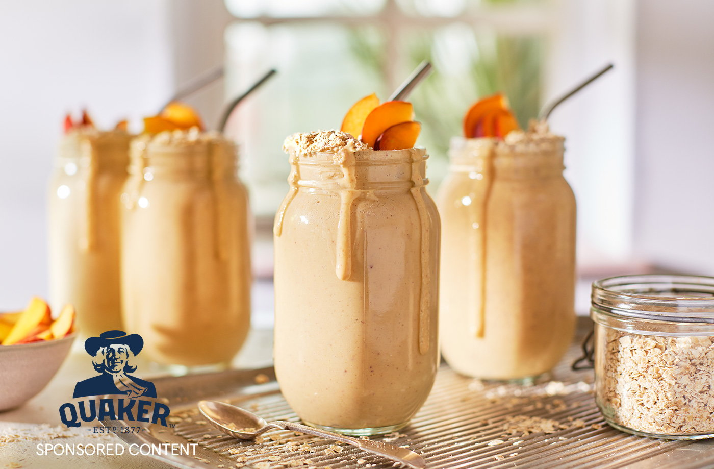 Peach and oat smoothie recipe