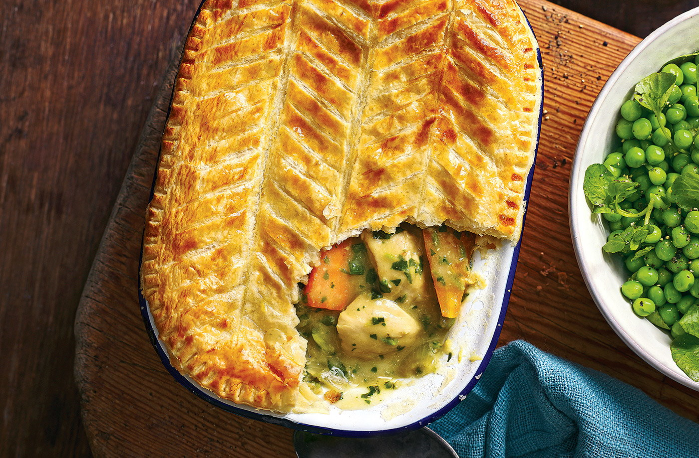 Watercress and lemon chicken pot pies recipe