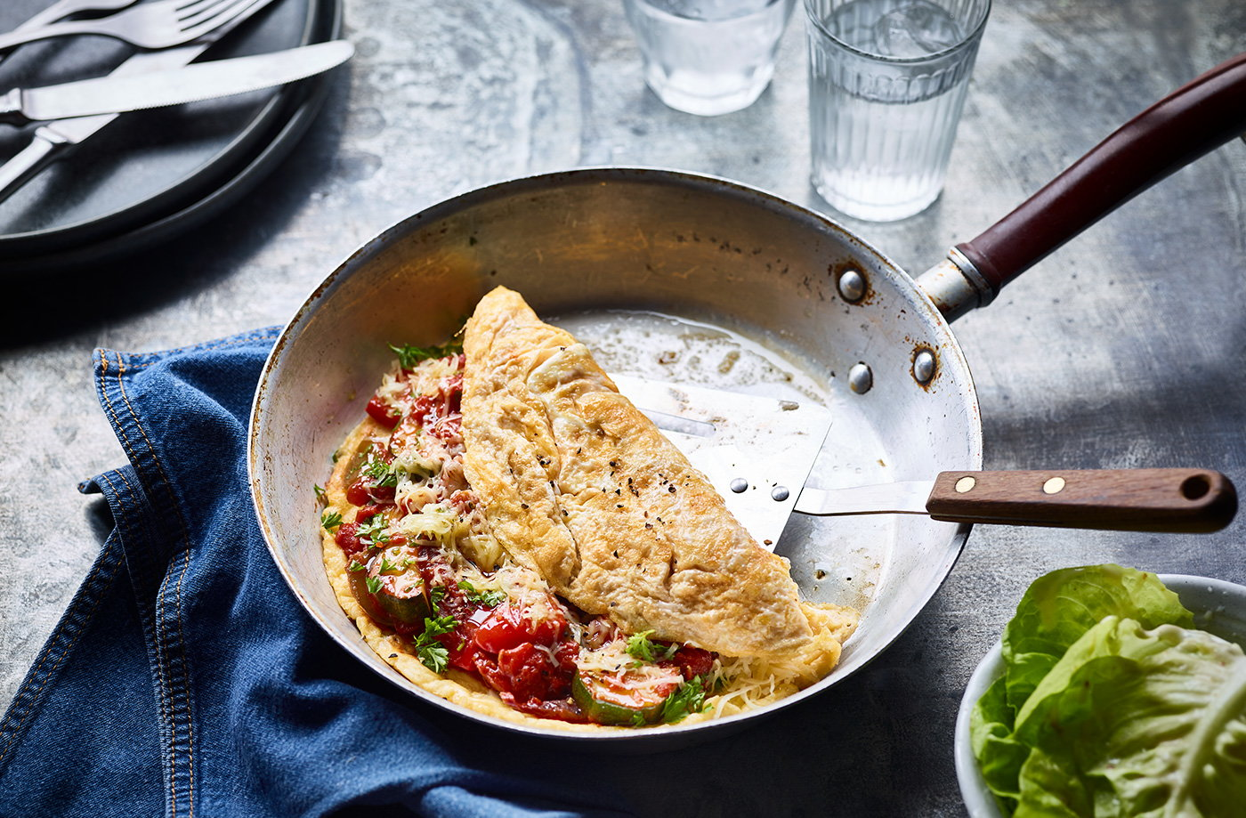 Ratatouille omelette recipe
