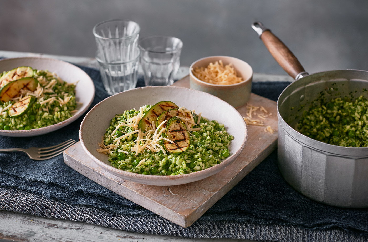 Green vegetable risotto recipe