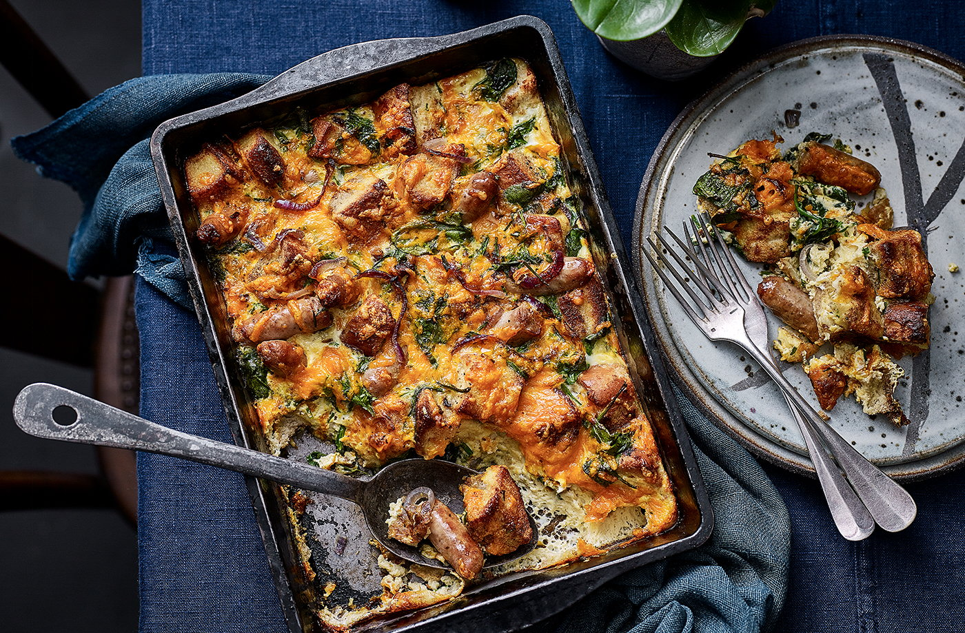 Sausage and spinach strata recipe