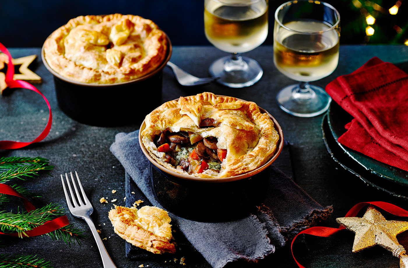Christmas vegetable and Stilton pies recipe