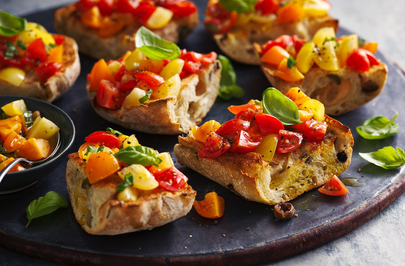 Tomato and basil bruschetta recipe