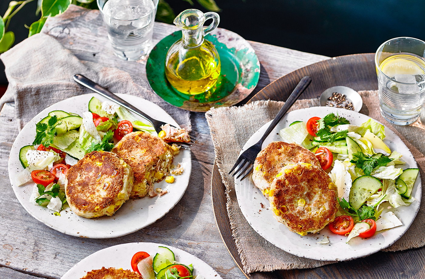 Tuna and sweetcorn fishcakes recipe