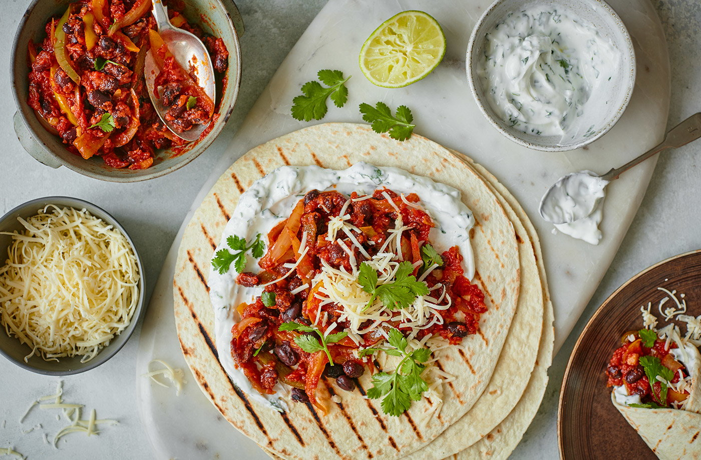 Veggie Bean Fajitas Tesco Real Food