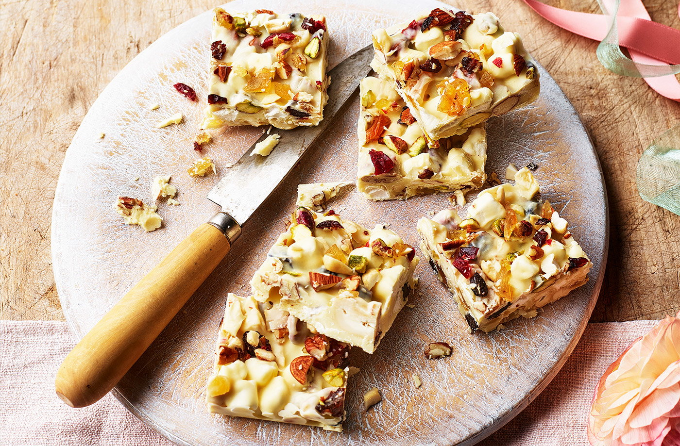 White chocolate and ginger rocky road recipe