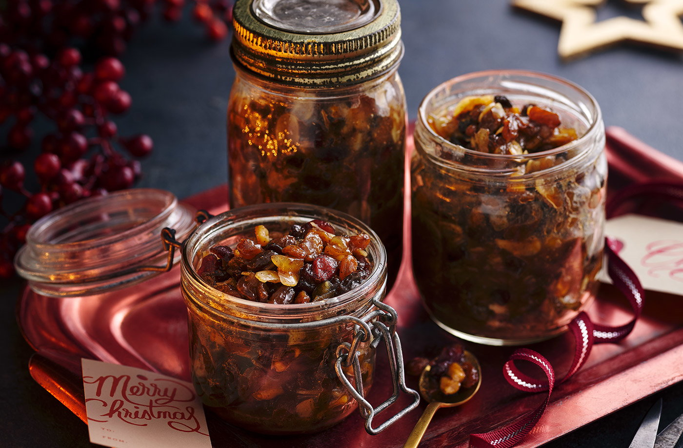Px Sherry Pear And Stem Ginger Mincemeat Christmas Recipes Tesco Real Food