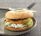Chickpea, sweetcorn and carrot burger