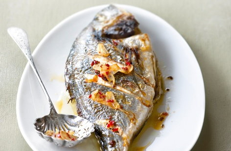 145586 grilled sea bream with garlic and hot red pepper HERO