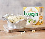 Boursin Garlic & Herbs CheeseGarlic, parsley and chives give crumbly Boursin it's distinctive flavour