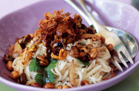 153045 Chinese Noodle Salad with Caramelised Dried Mango and Fried Ginger HERO