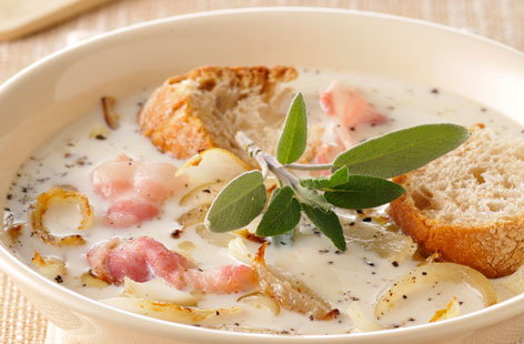 156685 onion, milk and bacon soup THUMB