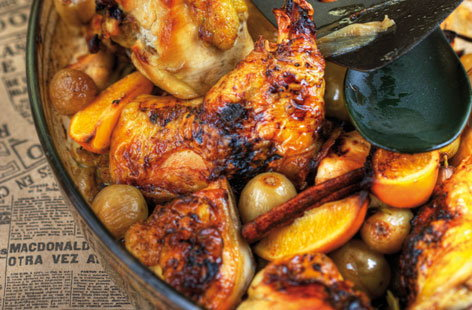 159442 roast legs of chicken with citrus fruit THUMB