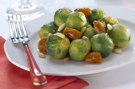 Roasted Brussels sprouts with chorizo | Tesco Real Food