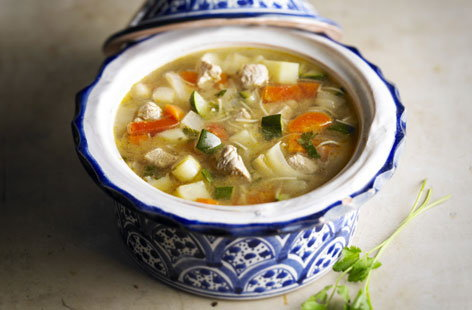 Vegetable and chicken soup